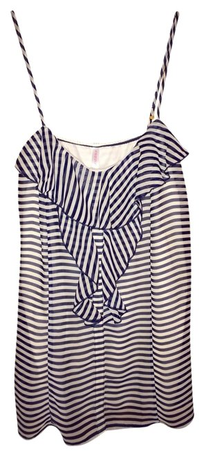 Xhilaration Striped Top Navy and Cream