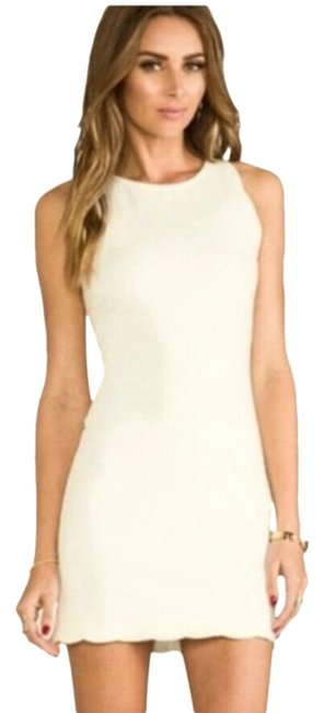 Item - Off White/Cream And Scalloped Mini Short Night Out Dress Size 0 (XS)