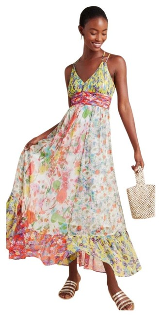 Item - Multicolor Malibu Floral Long Cocktail Dress Size 26 (Plus 3x)