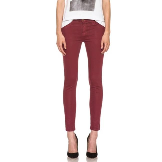 Item - Red  The Stiletto Coated Cabernet Skinny Jeans Size 27 (4, S)
