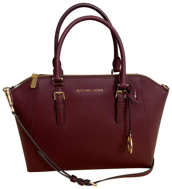 Item - Ciara Large Red Saffiano Leather Satchel