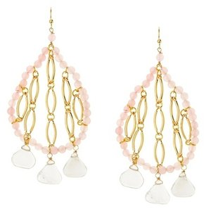 Helene Berman Helene Rose and Crystal Marquise Earrings