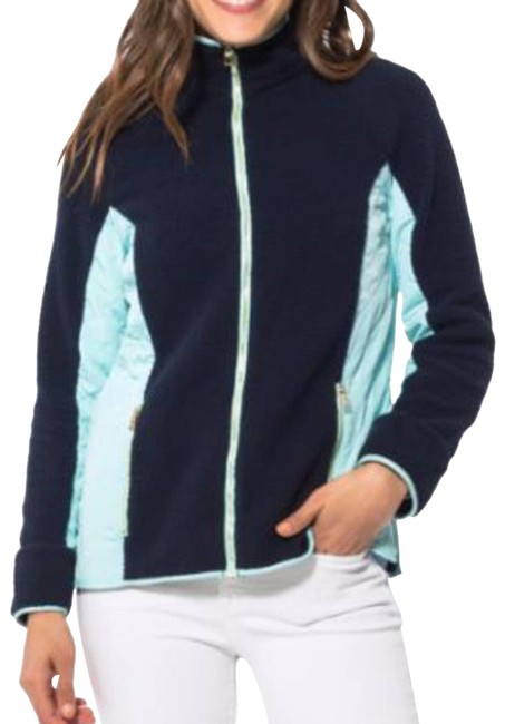 Item - Blue Sherpa Zip Front Jacket Sts S Activewear Size 4 (S)