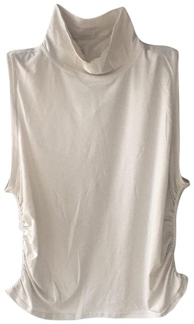 Item - Cream Mock Turtleneck Activewear Top Size 16 (XL, Plus 0x)