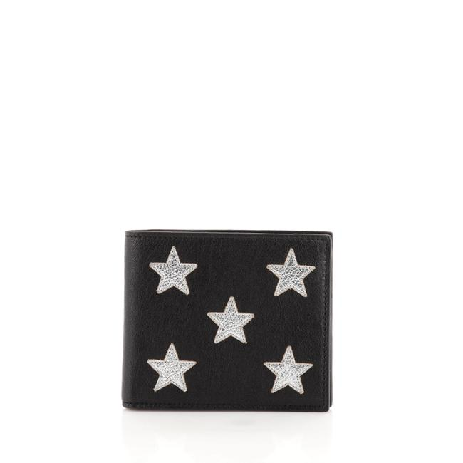 Item - Black Silver Stars Bifold Leather Wallet