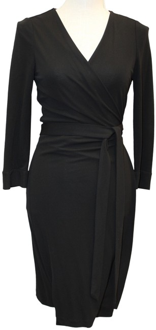 Item - Black New Julian Two Rayon Wrap 3/4 Sleeve Short Work/Office Dress Size 8 (M)