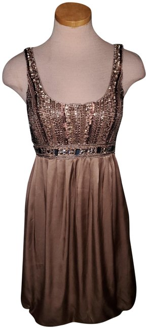 Item - Brown Nocturne Mid-length Night Out Dress Size 6 (S)