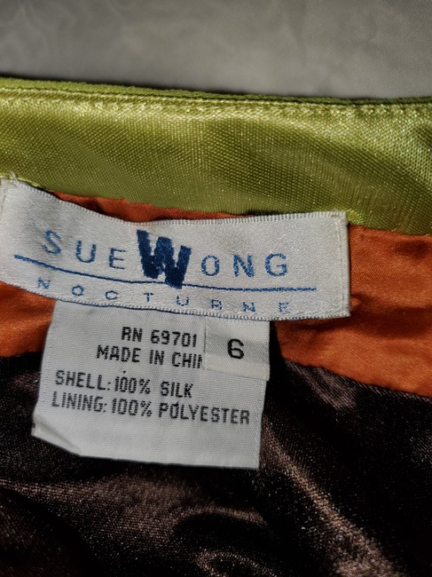 Sue Wong Brown Green Nocturne Mid-length Night Out Dress Size 6 (S) Sue Wong Brown Green Nocturne Mid-length Night Out Dress Size 6 (S) Image 3