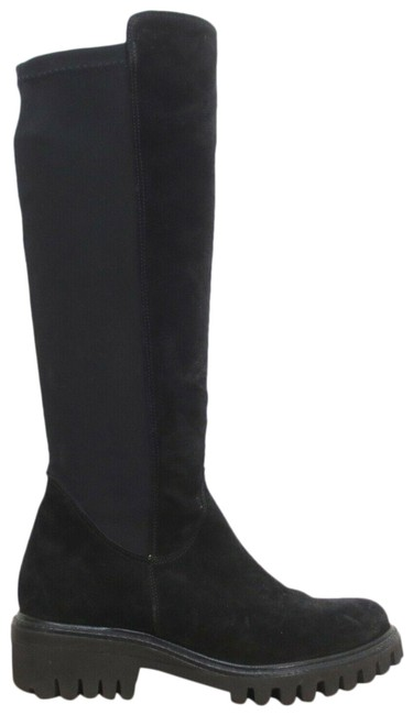 Item - Black 5 Au / - Suede Chunky Sole Knee High Boots/Booties Size US 7.5 Regular (M, B)