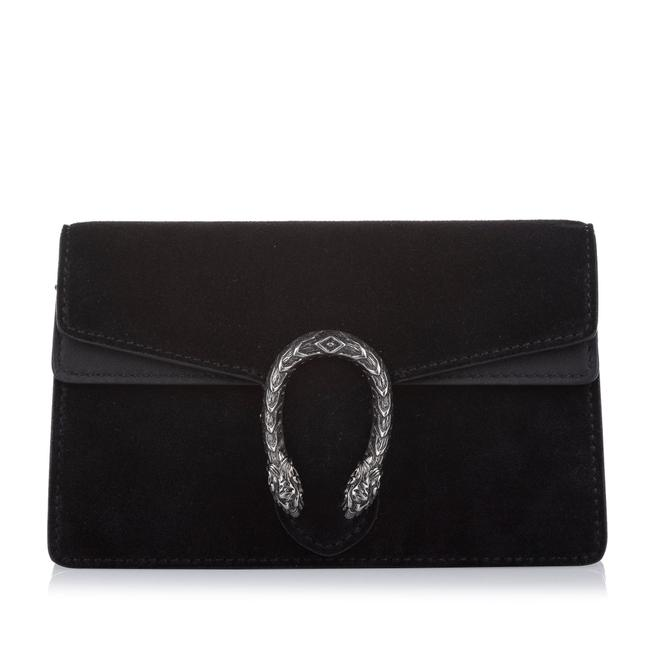 Item - Dionysus Super Mini Suede Black Leather Cross Body Bag
