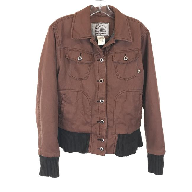 Item - Brown Hemp Button Down Jacket Size 10 (M)