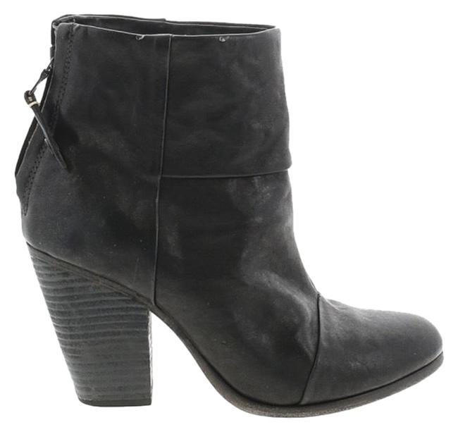 Item - Black Leather Newbury Boots/Booties Size EU 37 (Approx. US 7) Regular (M, B)