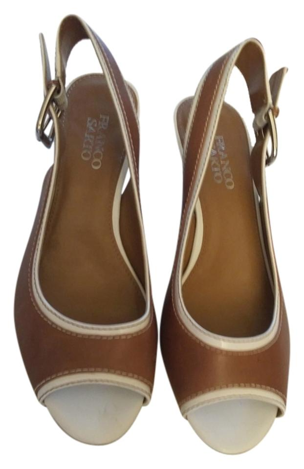Franco Sarto Brown with Reduced White Trim Just Reduced with Wedges 3d5c3a