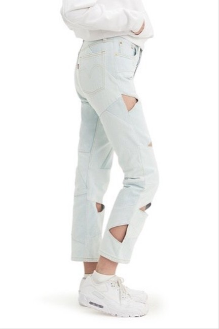 Item - Light Wash 501 Cropped Cutout Straight Leg Jeans Size 4 (S, 27)
