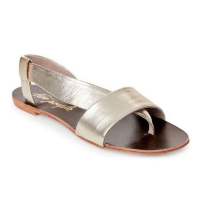 Item - Gold Under Wraps In Metallic Sandals Size EU 36 (Approx. US 6) Regular (M, B)