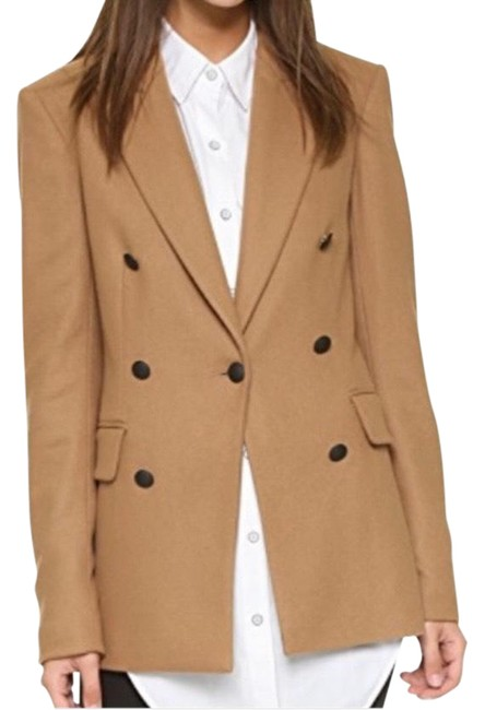 Item - Camel Corin Wool Blazer Jacket Color Coat Size 4 (S)
