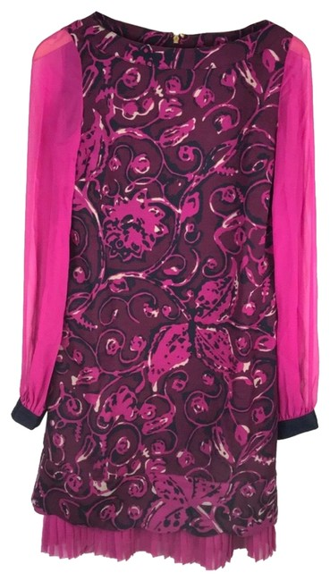 Item - Pink Navy Mid-length Cocktail Dress Size 4 (S)