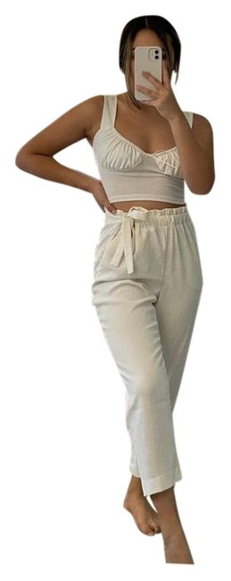 Item - White Ankle High Rise Pants Size 0 (XS, 25)