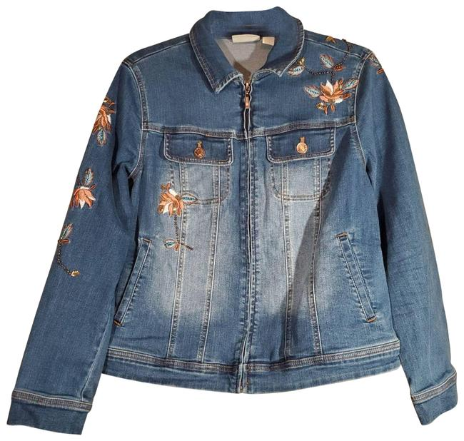 Item - Blue Beaded/Embroidered Jean Jacket Size 8 (M)