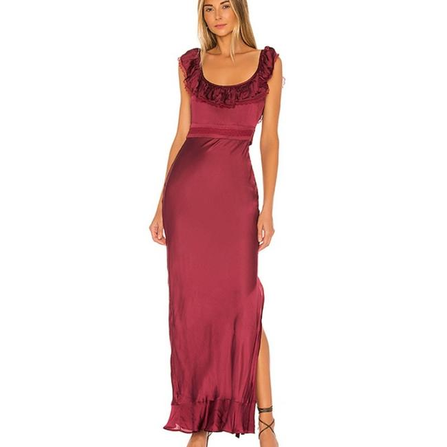 Item - Red XS Revolve Vanna In Cabernet Silk A-line Gown Long Casual Maxi Dress Size 0 (XS)