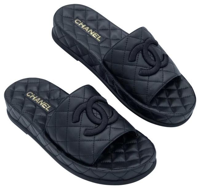 Item - Black Spring-summer 2021 Mules/Slides Size EU 38 (Approx. US 8) Regular (M, B)
