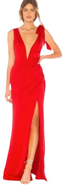 Item - Red L Patrick Leah Gown In Long Casual Maxi Dress Size 12 (L)