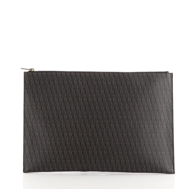 Item - Zip Pouch Monogram Large Brown Coated Canvas Clutch