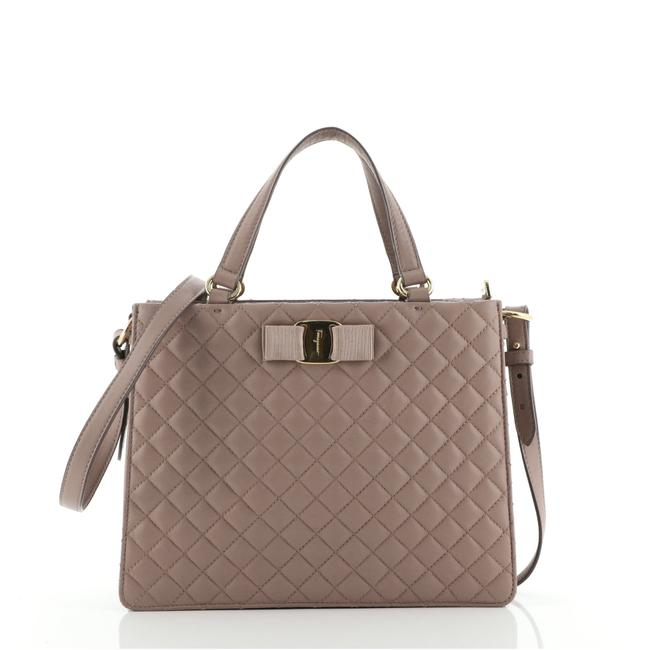 Item - Tracy Quilted Pink Leather Tote