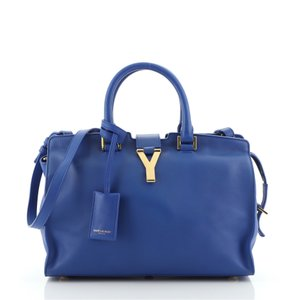 Item - Cabas Classic Small Blue Leather Tote