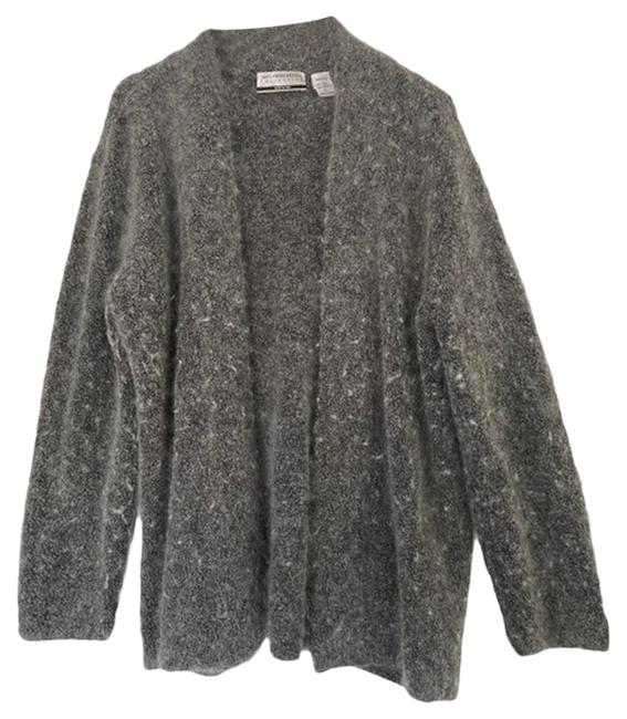 Item - Gray & Silver Wool Sweater Large Coat Size 14 (L)
