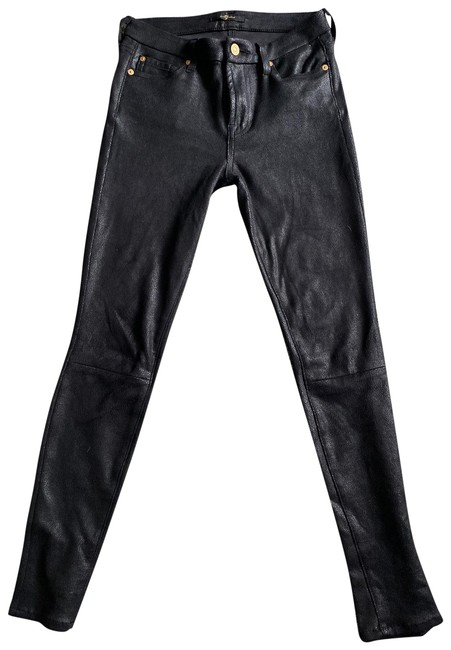 Item - Black Seven Faux Leather Skinny Jeans Size 0 (XS, 25)