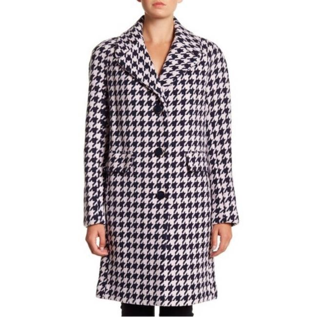 Item - Blue Houndstooth Navy and Pink M Coat Size 8 (M)