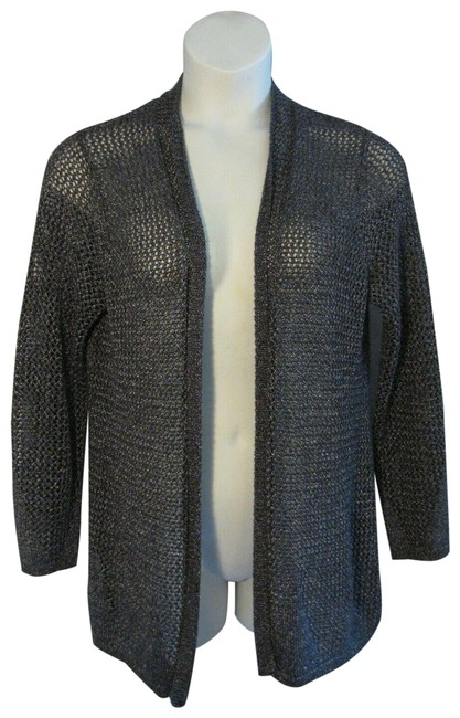 Item - Gray L Travelers 2 Large Silver Loose Knit Sweater Cardigan Size 12 (L)