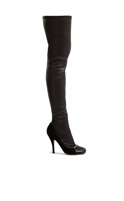 Item - Garavani Ring-toes Over-the-knee Leather Boots/Booties Size EU 38.5 (Approx. US 8.5) Regular (M, B)