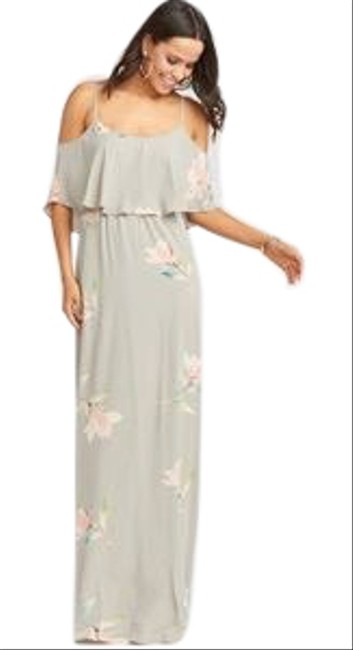 Item - Lily Shower - Sage Green Caitlyn Ruffle Long Casual Maxi Dress Size 12 (L)