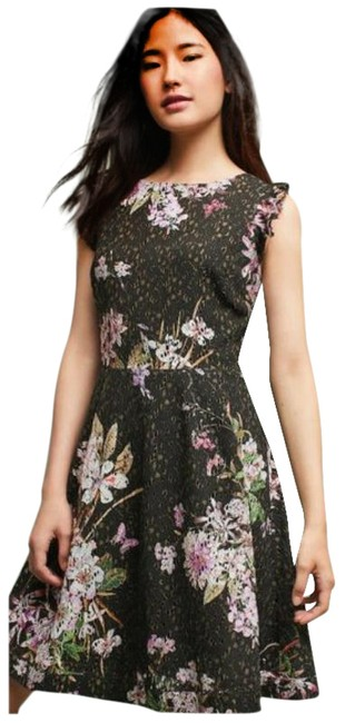 Item - Black / Pink Eri + Ali Nevaeh Floral Lace Short Casual Dress Size 0 (XS)