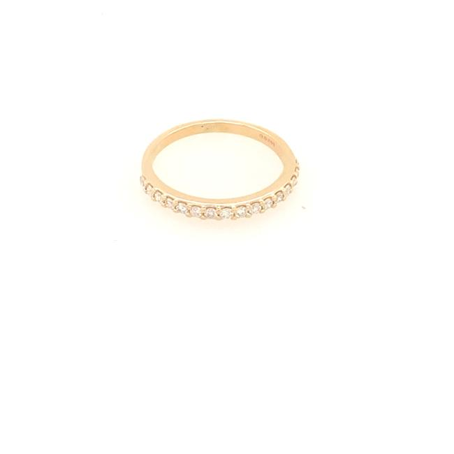 Item - Yellow Gold Natural Diamond In 14kt Size 5.5 Women's Wedding Band