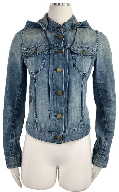 Item - Blue Jean Detachable Hooded Fitted Short Unlined Pintuck Jacket Size 0 (XS)