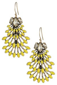 Stella & Dot Yllow chandeliers earings#.30001674