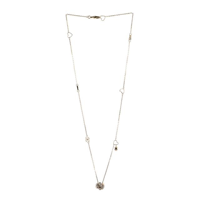 Item - 18k Yellow Gold Flora Pendant with Diamonds and Moonstone Necklace