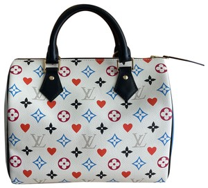 Item - Speedy Bandouliere 25 Game On Limited Edition White Coated Canvas Cross Body Bag