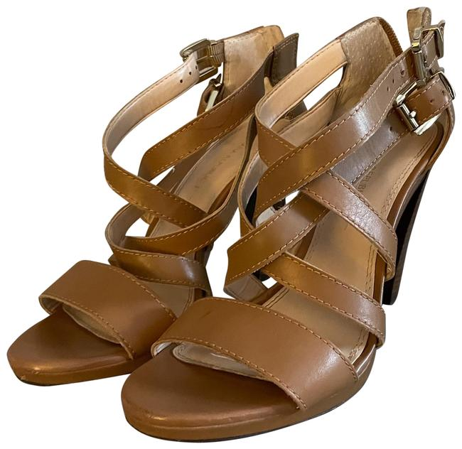Item - Tan Strappy Heels Formal Shoes Size US 9 Regular (M, B)