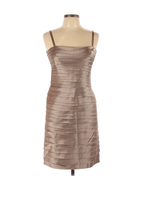 Item - Brown 123456 Mid-length Cocktail Dress Size Petite 10 (M)