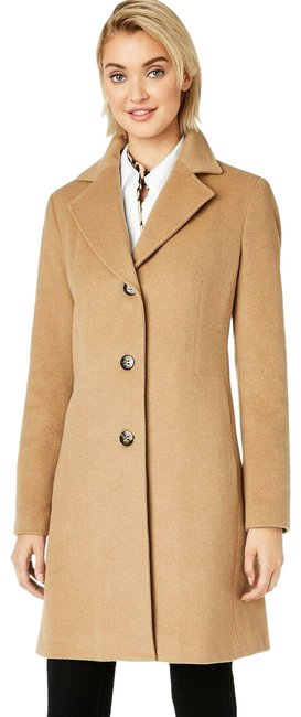 Item - Beige Wool Cashmere Blend Top Coat Size 0 (XS)