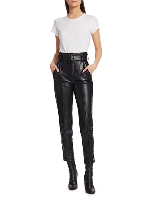 Item - Black Faux Leather Pants Size Petite 2 (XS)