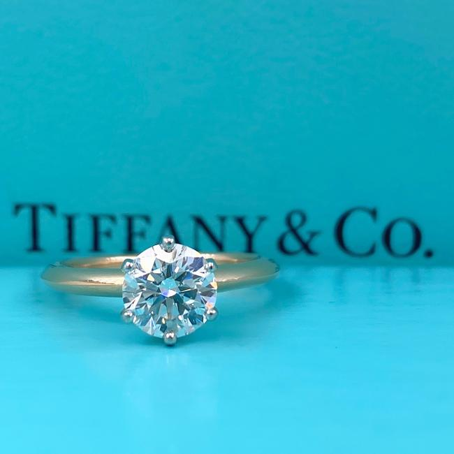 Item - Rose Gold Box Round Diamond 1.18 Cts H Vs1 18k Papers Engagement Ring