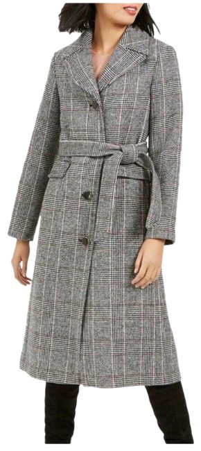 Item - Plaid Belted A-line Small Coat Size 6 (S)