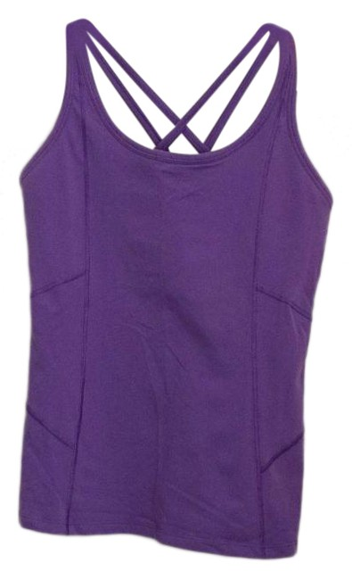 Item - Purple Strappy Stretch Power Tank M Activewear Top Size 6 (S)