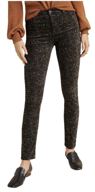 Item - Black/Tan Paisley High Rise Stevie Ankle Straight Leg Jeans Size 29 (6, M)