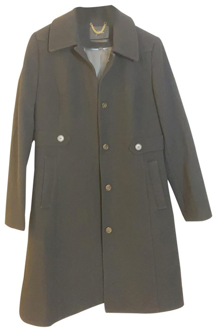 Item - Black New Lady Day In Italian Double-cloth Wool with Thinsulate® Item Ae291 Coat Size 10 (M)